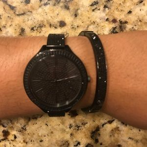 Michael Kors watch and matching bracelet